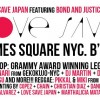 MeccaGodZilla joins the Love Save Japan Fundraiser in Times Square NYC